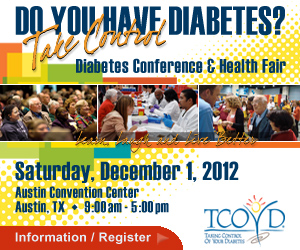Flyer for Taking Care of your Diabetes Show in Austin, Texas